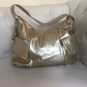 🔥SALE🔥MICHAEL Kors Metallic Gold Pebbled Leather